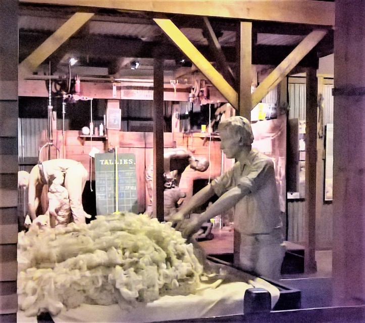 wool museum display