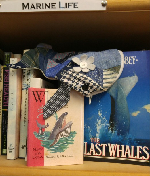 whalesby hanging out with his pals in the marine life section