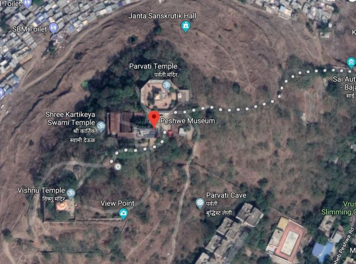 Parvati Hill view from google maps