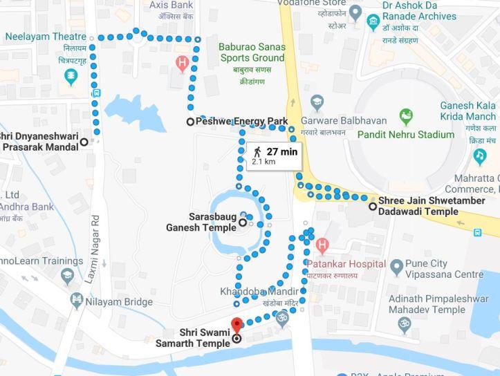 Sarasbaug area map