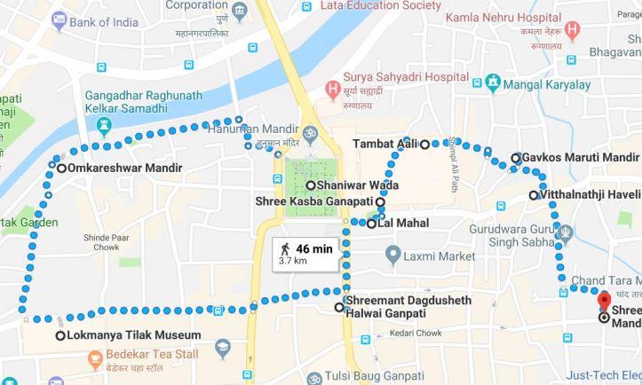 Shaniwar Wada area map